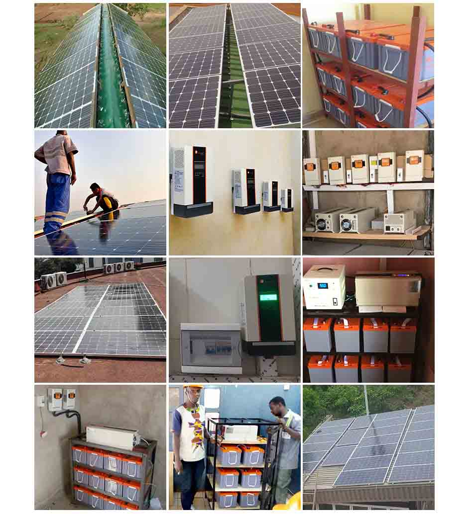 Complete Off Grid 48VDC 220VAC 10kw Solar Panel Set Solar Power Sy