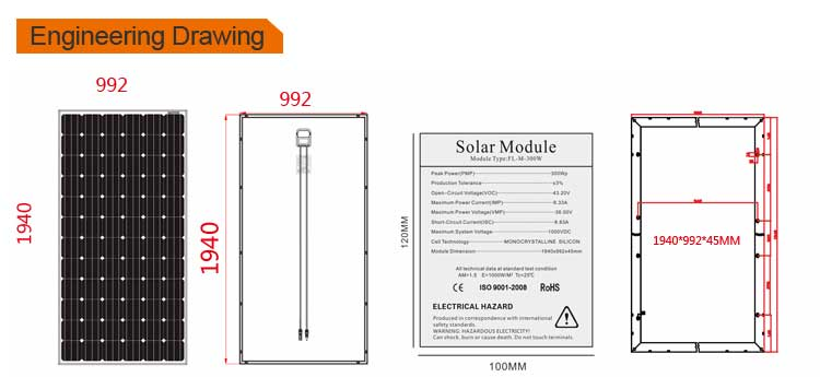 Factory 260w 260 Watt Photovoltaic Solar Panel
