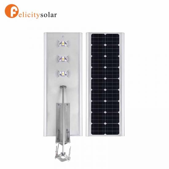 Outdoor Lighting 30w All In One Solar Street Light High Lumen For Highway