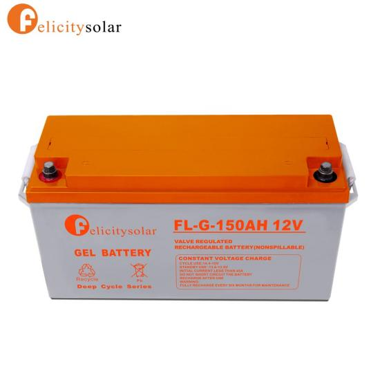 12V 150Ah Deep Cycle Sola Gel Battery For Power Storage