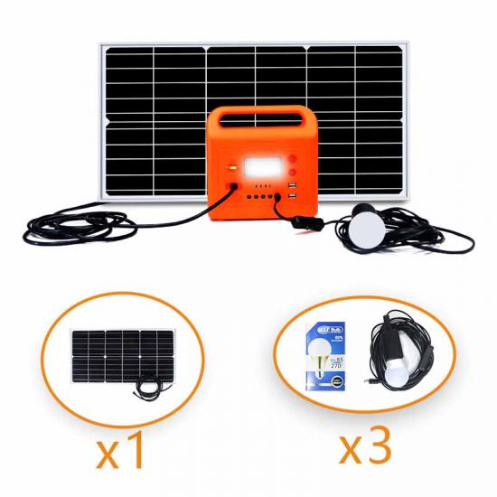 Hot Sell Powerful Solar Home Kit Lighting System With Table Fan